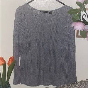 Gray Cable knit Sweater